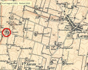 Lem-Stærdal Mølle Kort 1881-1916-2