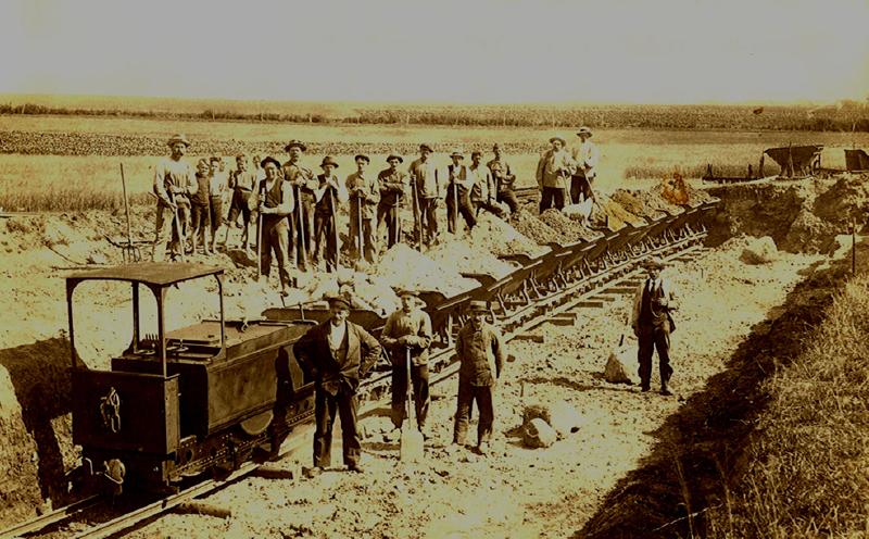 Vessallingbanen bygges 1922-1