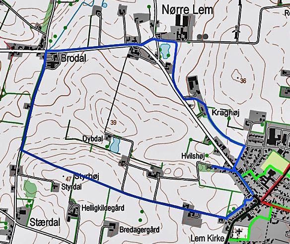 Blå - rutekort04615