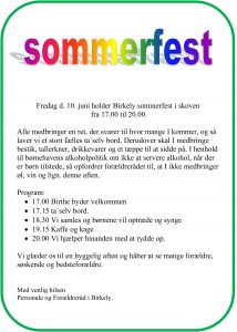 sommerfest bh maj16