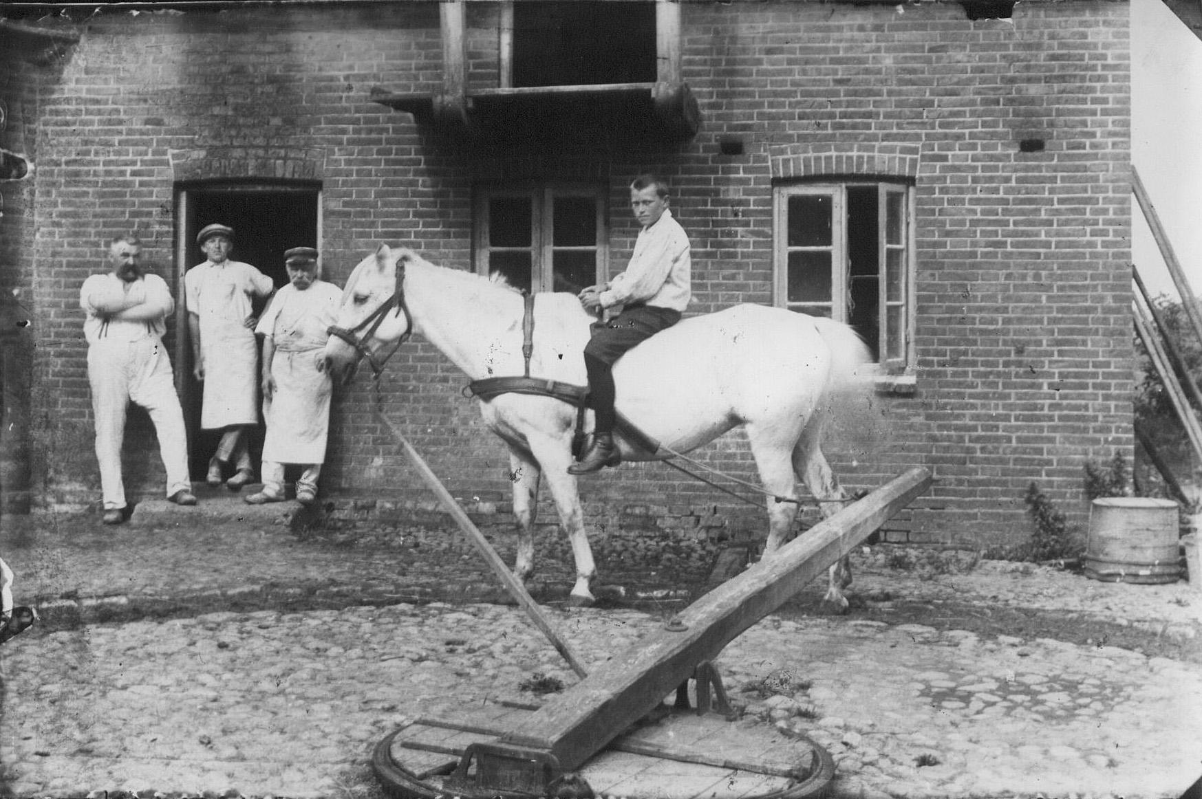 Hestegang ved Lem Bageri. Nygård til hest.