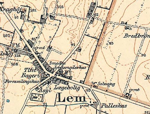 Kort Lem By-1-2 1917