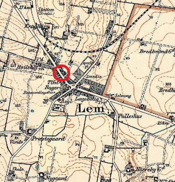 Lem - kort 1947-4 Spkasse