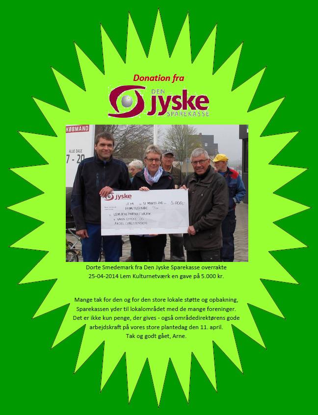 Donation fra Sparekassen 2504-2015-2