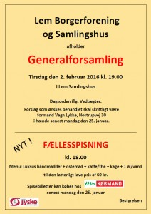 General fors 2016